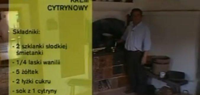 063 Krem cytrynowy | Wędrówka Kaszubski smak | Podróże kulinarne Roberta Makłowicza