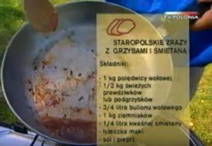 065 Staropolskie zrazy z grzybami i śmietaną   Wędrówka Smak Soplicowa   Podróże kulinarne Roberta Makłowicza