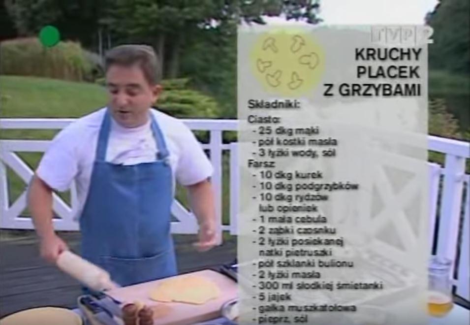 066 Kruchy placek z grzybami | Wędrówka Smak grzybów | Podróże kulinarne Roberta Makłowicza