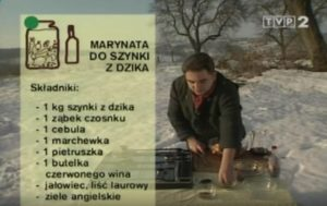 072 Marynata do szynki z dzika   Wędrówka Myśliwski smak   Podróże kulinarne Roberta Makłowicza
