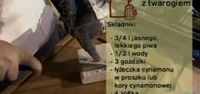 074 Polewka piwna z twarogiem | Wędrówka Dworski smak | Podróże kulinarne Roberta Makłowicza