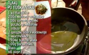 Flaki po toskańsku | Wędrówka kulinarna 269 Alabastrowy smak | Podróże kulinarne Roberta Makłowicza Przepisy