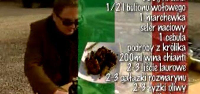Królik w chianti | Wędrówka kulinarna 267 Smak Chianti | Podróże kulinarne Roberta Makłowicza