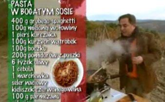 Pasta w bogatym sosie | Wędrówka kulinarna 267 Smak Chianti | Podróże kulinarne Roberta