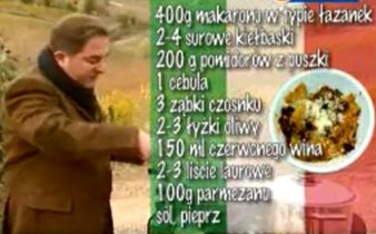 Pasta z kiełbaskami | Wędrówka kulinarna 267 Smak Chianti | Podróże kulinarne Roberta