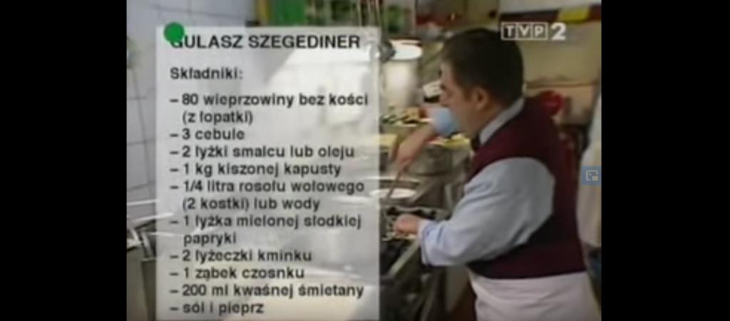 057 Gulasz segedyński (SZEGEDINER) | Wędrówka Najjaśniejszy smak | Podróże kulinarne Roberta Makłowicza