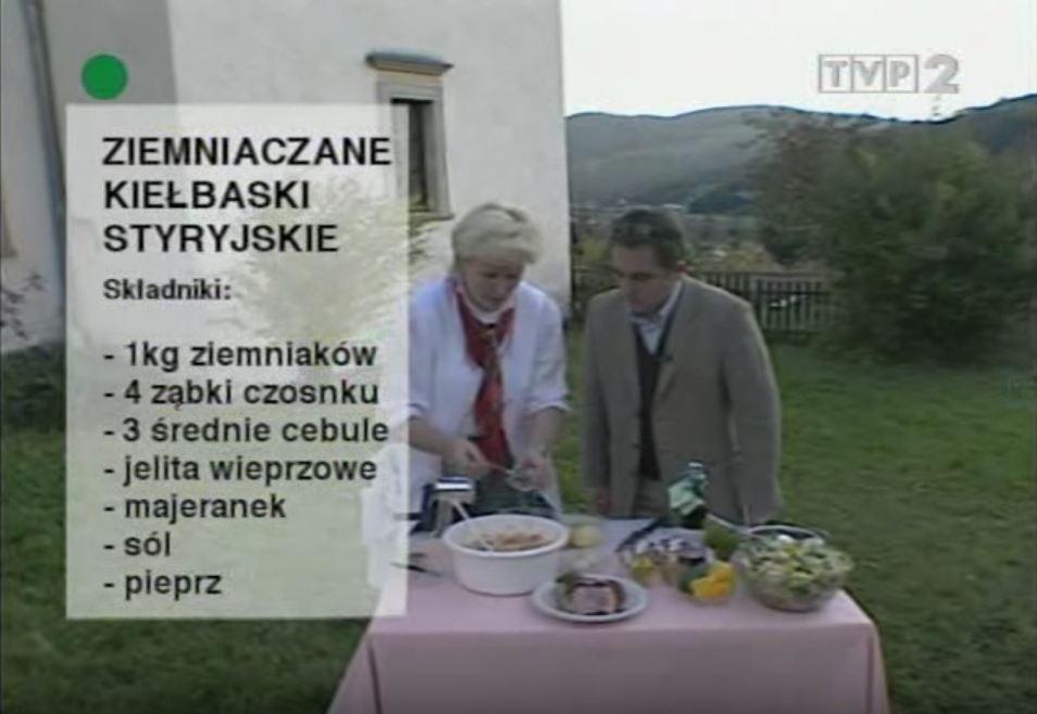 059 Ziemniaczane kiełbaski styryjskie   Wędrówka Cesarski smak   Podróże kulinarne Roberta Makłowicza