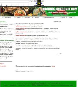 kuchnia.mckornik.com Pierwsza i nieoficjalna strona programu PODRÓŻE KULINARNE ROBERTA MAKŁOWICZA
