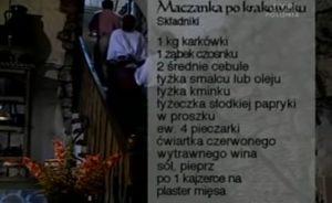 Maczanka po krakowsku | Wędrówka kulinarna 052 Smak wawelski | Podróże kulinarne Roberta